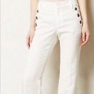 New With Tags Anthropologie White Pants size 4
